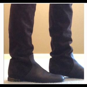 Gucci knee high boots with horse bit heel